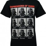 Star Wars Darth Vader Expressions Men's Black T-shirt