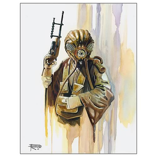 Star Wars Zuckuss Bounty Hunter Collection Art Lithograph