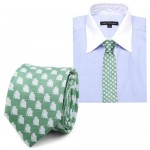 Star Wars Yoda Green and Gray Italian Silk Skinny Tie