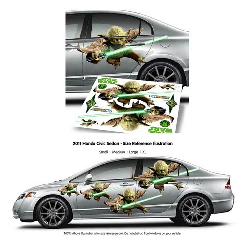 Star Wars Yoda FanWraps Car Decal