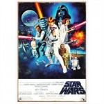 Star Wars: A New Hope Style C Movie Poster Heavy Gauge Tin Sign