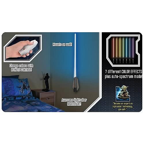 Star Wars Lightsaber Room Light Wall Sconce
