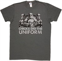 Star Wars Chicks Dig the Uniform Stormtrooper T-Shirt Sheer